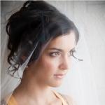 Свадебная причёска под фату