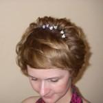 Свадебная причёска на короткие волосы