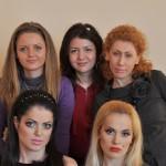 Тараканова Людмила, Банникова Ольга, Симкив Елена и модели с макияжем
