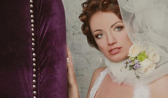 Романтичный макияж невесты в пастельных тонах