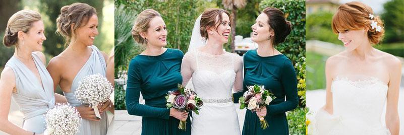 Собранные прически для подружки невесты