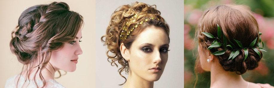 Греческие прически на средние волосы